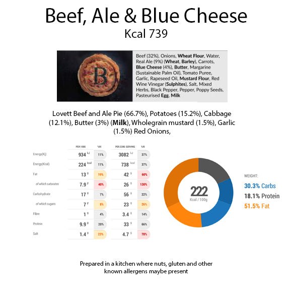 Lovett Beef, Ale & Bath Blue Cheese