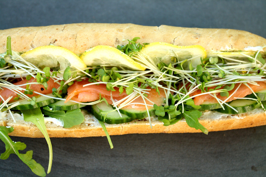 Smoked Salmon & Dill Baguette