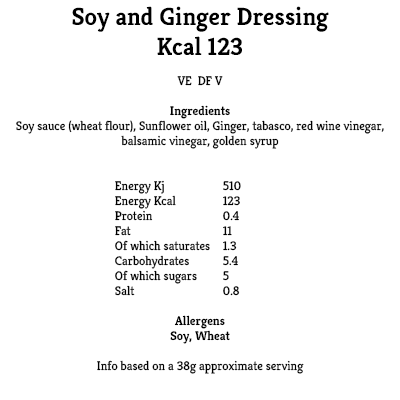 Soy and Ginger Dressing