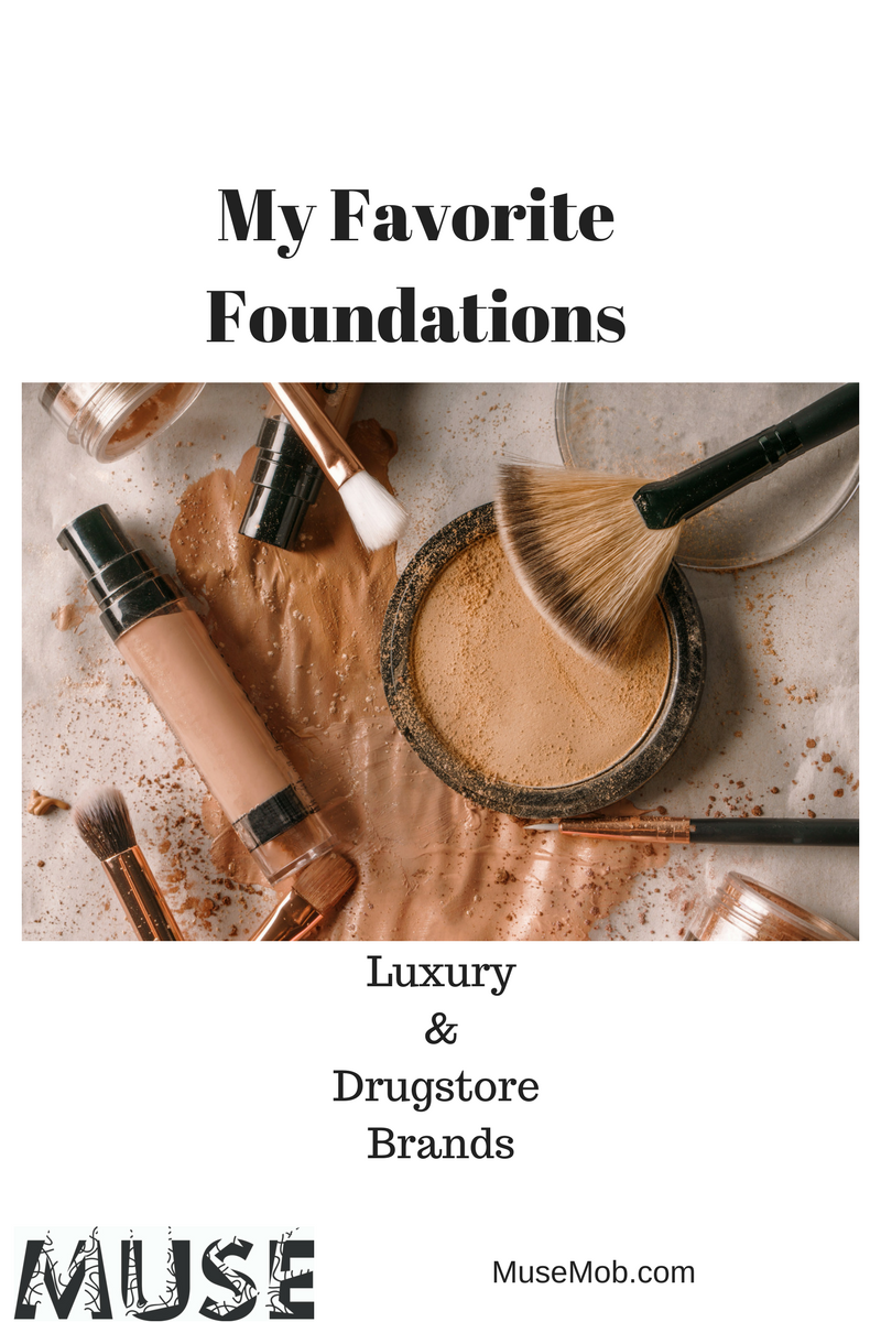 My Favorite Foundations Luxury & Drugstore Brands