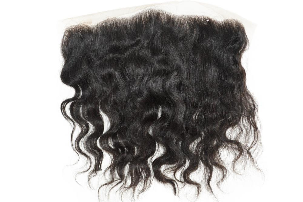 Malaysian Natural Wavy Hair 12in Frontal with 12in 12in 14in Bundle Deal