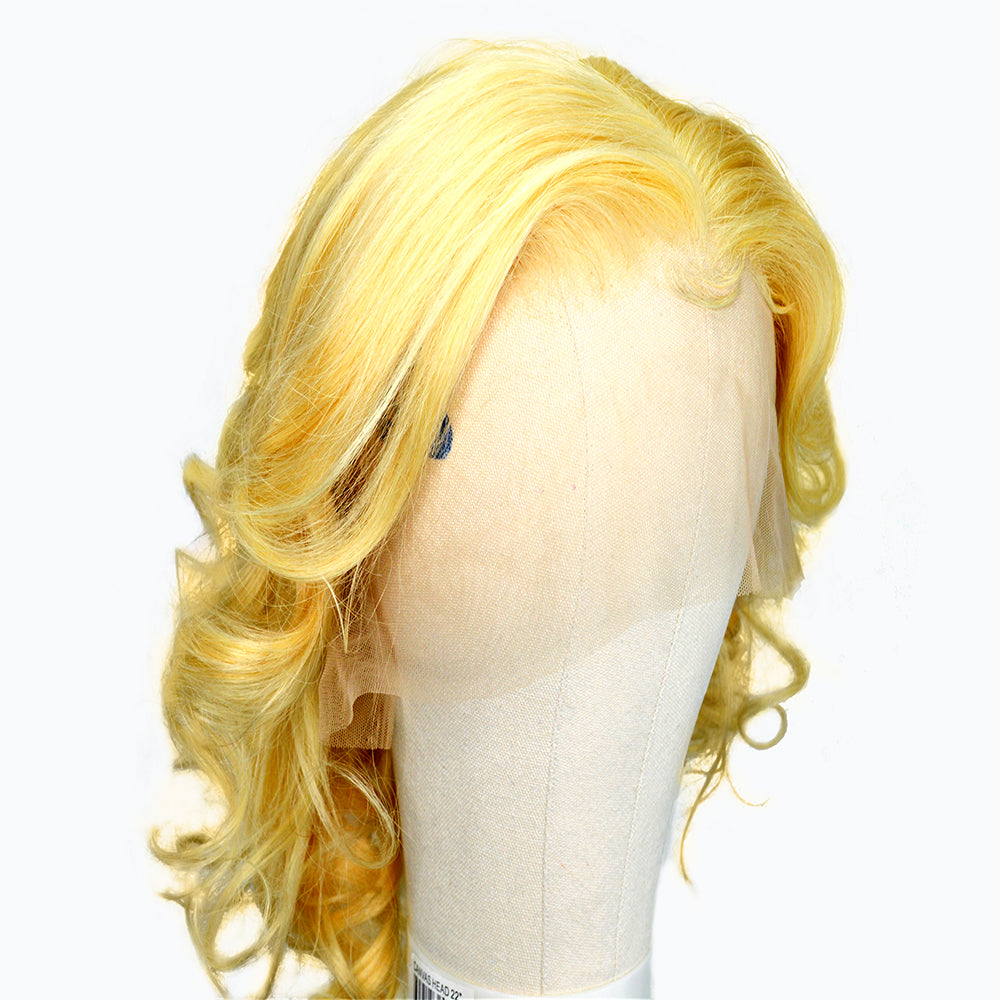 Remy Blonde Lace Front Wig Straight