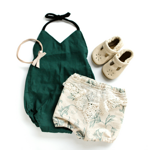 Forest Solid Romper