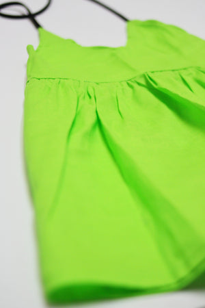 Lime Solid Halter Dress