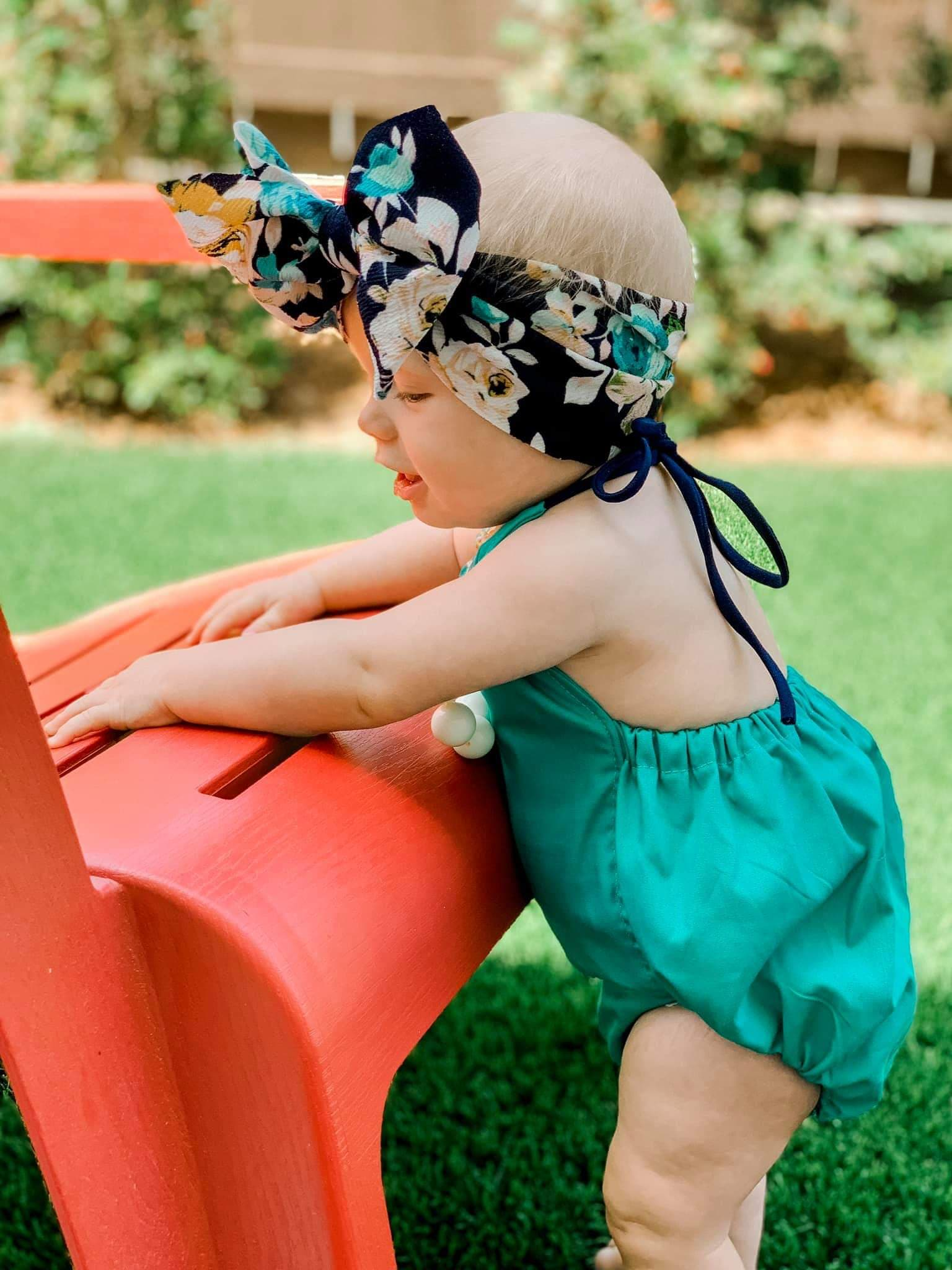 Turquoise Solid Bloomers