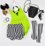 Lime Solid Romper