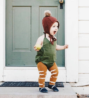 olive colored sunsuit romper vneck with snaps