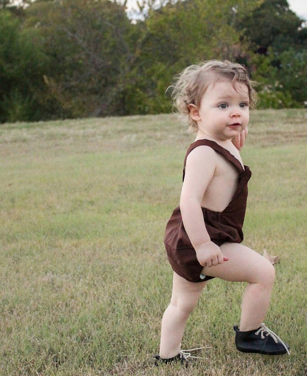 Kole Romper- Brown