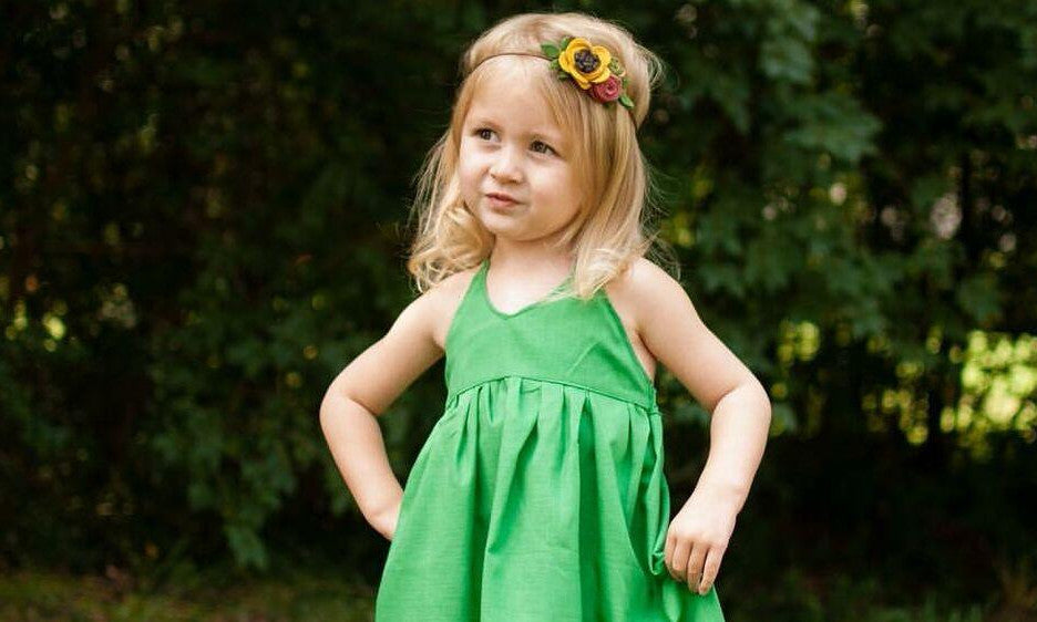 Kelly Green Solid Peplum