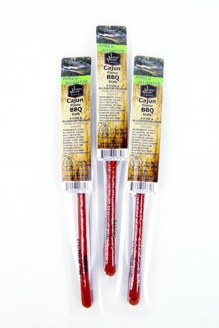 Cajun Barbecue Alligator Snack Sticks