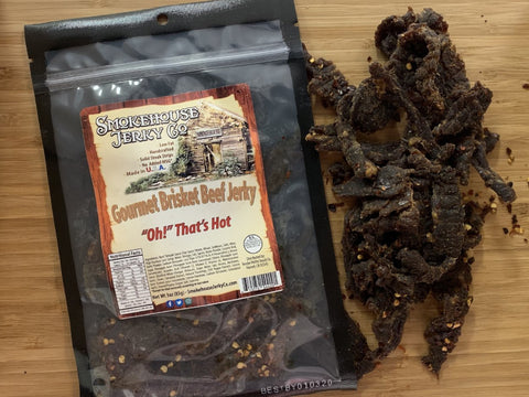 """Oh"" That's Hot! Beef Brisket Jerky"