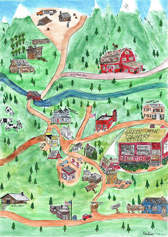 Map of Butler, Vermont