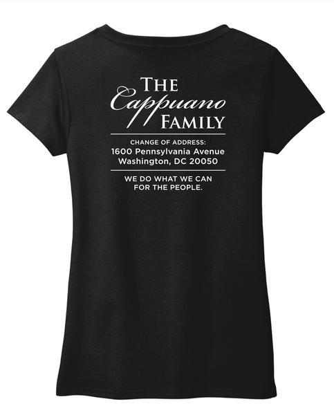 First Family Black Short Sleeve V-Neck T-Shirt with Logo