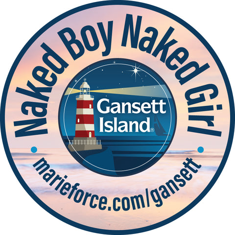 Naked Boy Naked Girl Gansett Island Sticker