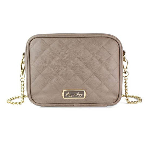 Itzy Ritzy Taupe Double Take Cross Body Diaper Bag