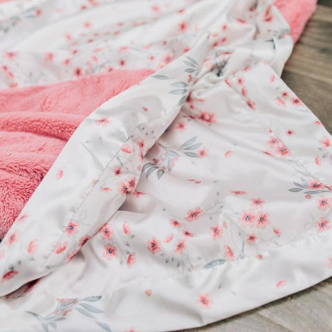 Sakura Bloom Satin Back Receiving Blanket