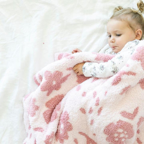 Petal Double Layer Toddler Blanket