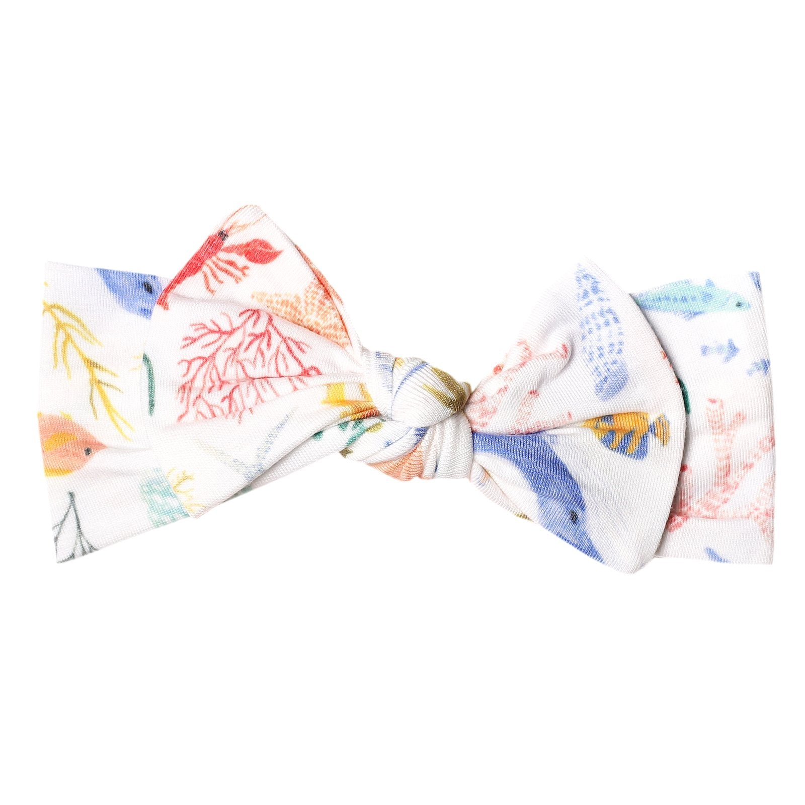 Knit Headband Bow-Nautical