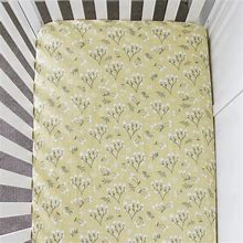 Yellow Buds Cotton Crib Sheet