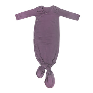 Knotted Gown-Plum