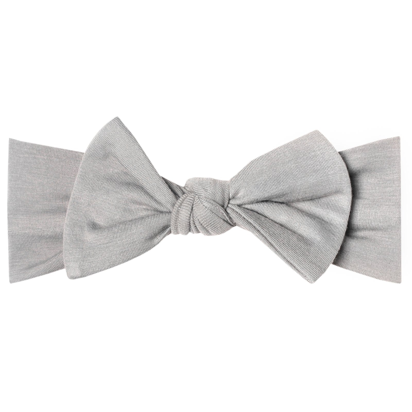 Knit Headband Bow-Stone