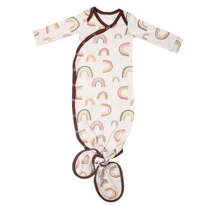 Pink Gingham Newborn Gown