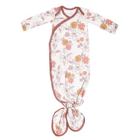 Newborn Knotted Gown-Ferra