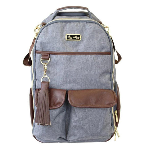 Itzy Ritzy Diaper Bags-Handsome Heather Gray