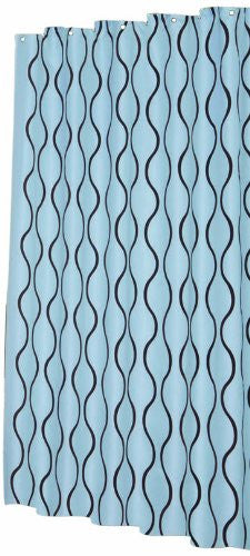 Carnation Home Fashions Geneva 70 Inch By 72 Shower Curtain With Flocking