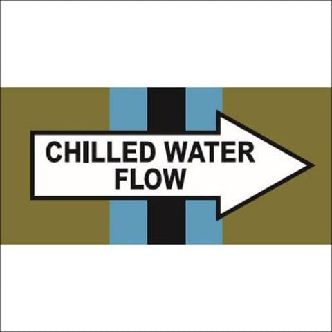 Pipe Identification Banding (2014 Colours) - Chilled Water Flow