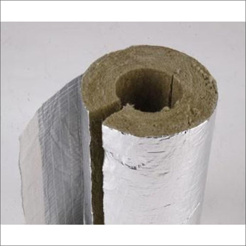 Rockwool Pipe Insulation/Lagging (Foil Covered) - Pipe Insulation