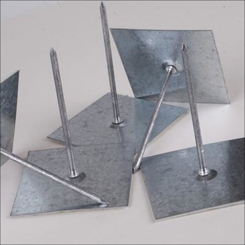Self-adhesive aluminium insulation hangers (Stick pins)