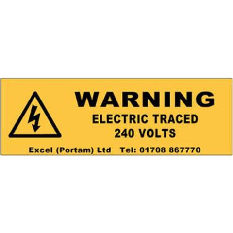 Trace Heating Labels (add contact details)