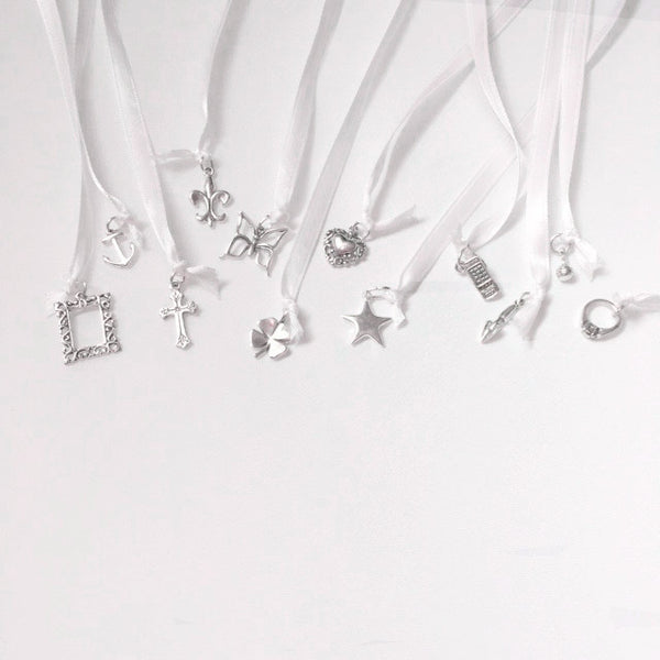 Wedding Cake Pull Charms, 12 Pieces, Sterling Silver