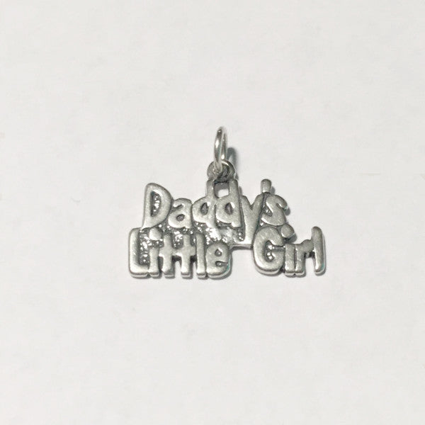 sterling silver daddy's little girl charm