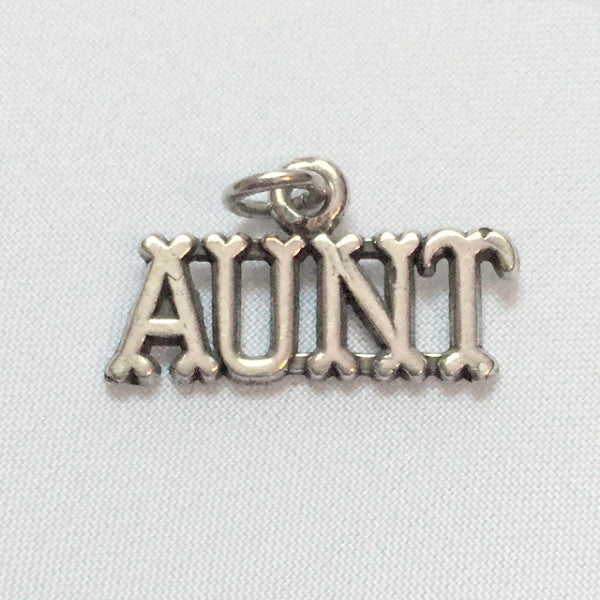 sterling silver aunt charm