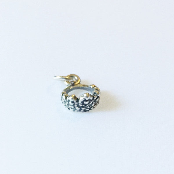 Sterling silver tiara crown charm