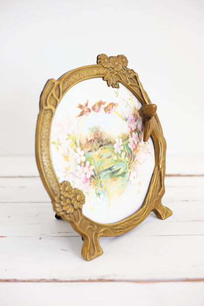SOLD - Vintage Brass Art Nouveau Picture Frame
