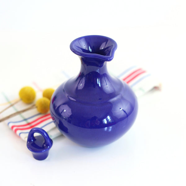 SOLD - Vintage Cobalt Blue Franciscan El Patio Pitcher / Gladding McBean Carafe