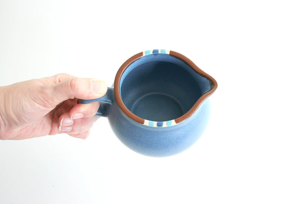 Vintage Dansk Mesa Blue Stoneware Cream Pitcher