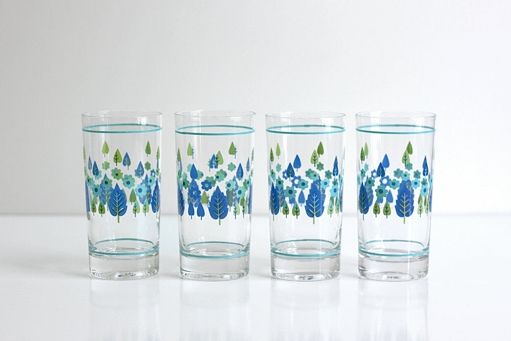 SOLD - Mid Century Swiss Alpine Drinking Glasses by Marcrest