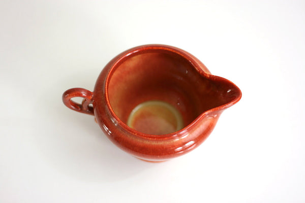 SOLD - Vintage Mid Century Modern Redwood Franciscan / Gladding McBean El Patio Ceramic Cream Pitcher