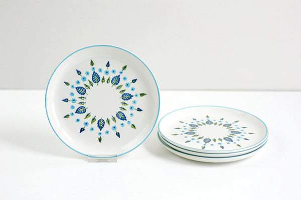 SOLD - Mid Century Swiss Alpine Bread and Butter Plates by Marcrest
