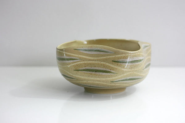 SOLD - Mid Century Modern Red Wing Pottery Bowl - Sgraffito Line by Charles Murphy