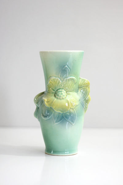 SOLD - Vintage Pastel 'Carol's Corsage' Ceramic Vase by Royal Copley
