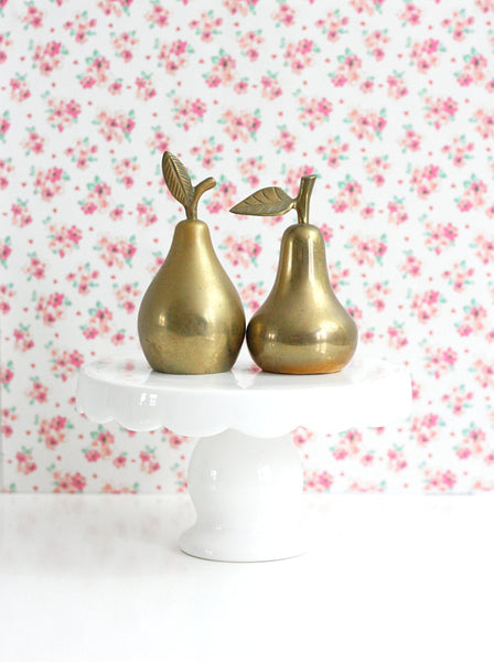 SOLD - Mid Century Brass Pear Bell