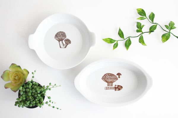 Danish Modern Mushroom Dishes by Kaj Franck for Finel Arabia