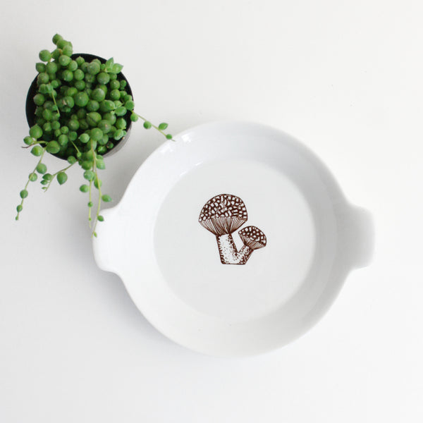 SOLD - Danish Modern Mushroom Dishes by Kaj Franck for Finel Arabia
