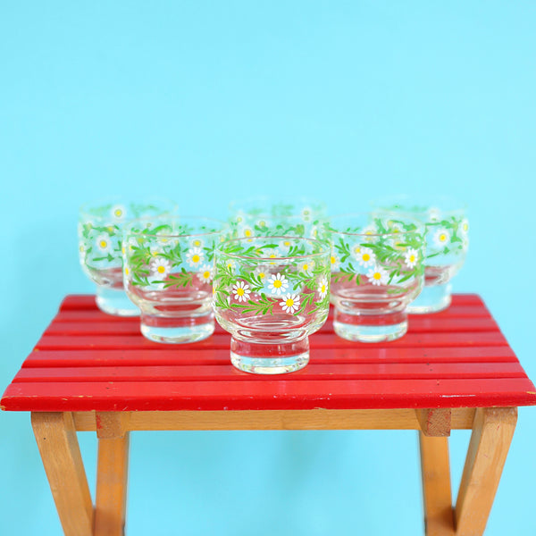 SOLD - Mid Century Culver Daisy Cocktail Set
