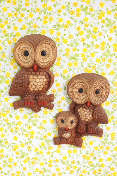 SOLD - Mid Century Owls Wall Decor